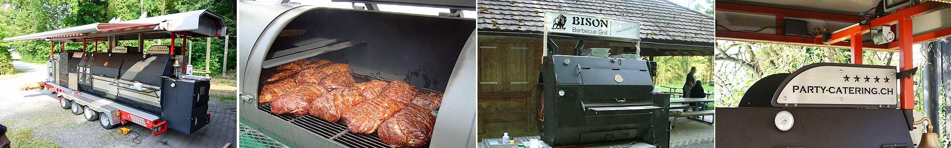 Barbecue Grill-Stationen